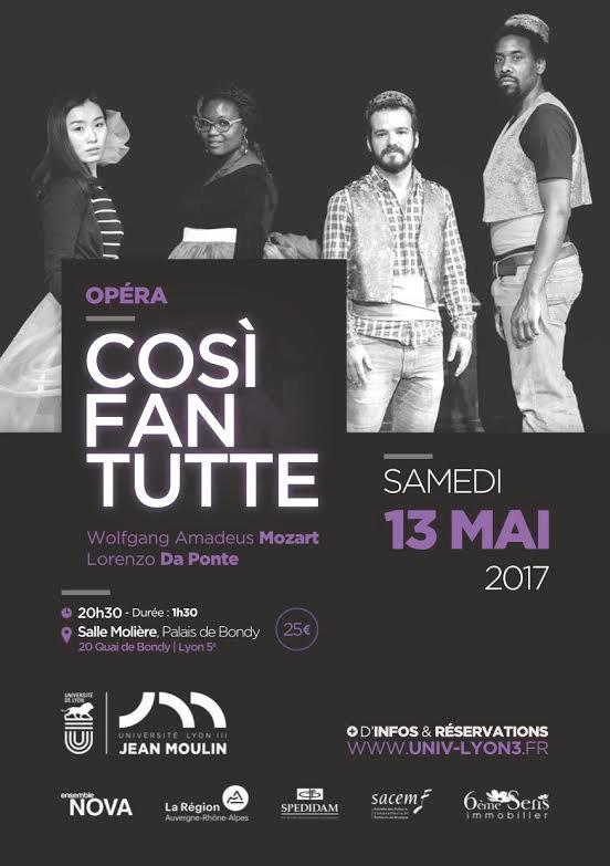 Cosi Fan Tutte le Samedi 13 Mai 2017 à la salle Molière - Lyon 5ème