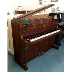 Piano Droit SCHIMMEL 112/9 Chippendale avec 2 lampes noyer