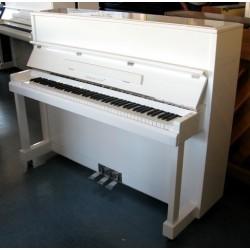 PIANO DROIT Hermann Jacobi 118 Blanc edition Argent