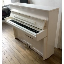 Piano Droit PLEYEL Esprit 115 Blanc brillant silencieux