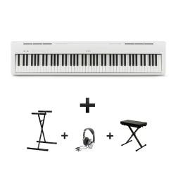 Pack : Piano numérique KAWAI ES-110 Noir ou Blanc Mat + Banquette en X + Casque + Stand