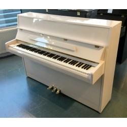 Piano Droit occasion JULIUS DRAYER JD-042 blanc brillant 108 cm