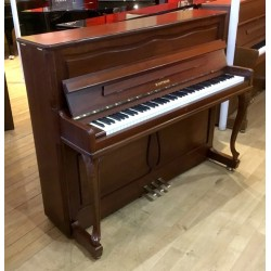 PIANO DROIT OCCASION W HOFFMANN H 120 Chippendale noyer satine