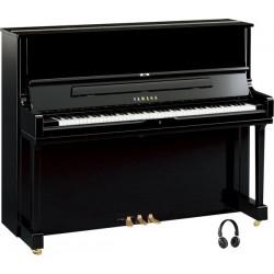PIANO DROIT YAMAHA YUS1 SILENT 121cm Noir Brillant