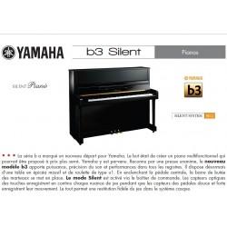 PIANO DROIT YAMAHA b3e SILENT SG2 121cm Blanc Brillant