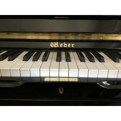 Piano Droit WEBER W18  109cm Noir Brillant
