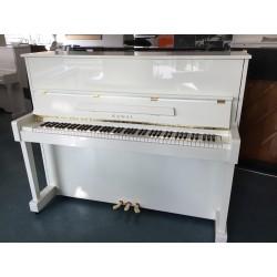 PIANO DROIT KAWAI K-25E Blanc Brillant 1m21