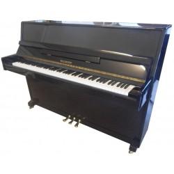 Piano droit WALDSTEIN, 110 Moderne, finition noir brillant