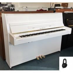 PIANO DROIT KAWAI K-15e ATX3 110cm Blanc brillant