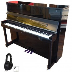 PIANO DROIT WILH.STEINBERG P-121 E Noir Brillant / Chrome