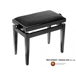 Banquette réglable PB40 Noir brillant / velour noir