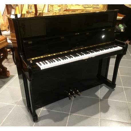 PIANO DROIT OCCASION SEILER 122 KONSOLE Noir Brillant