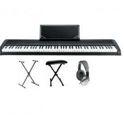 Pack : Piano numérique KORG B1 + Banquette en X + Casque + Stand en X