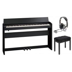 Pack Piano numérique ROLAND F-140R-CB Noir mat (Contemporary Black)