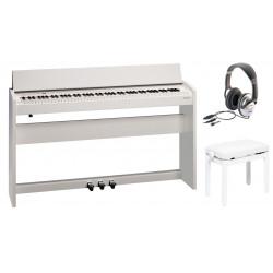 Pack Piano numérique ROLAND F-140R-WH Blanc mat