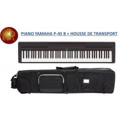 PACK PIANO PORTABLE YAMAHA P 45 B + HOUSSE DE TRANSPORT