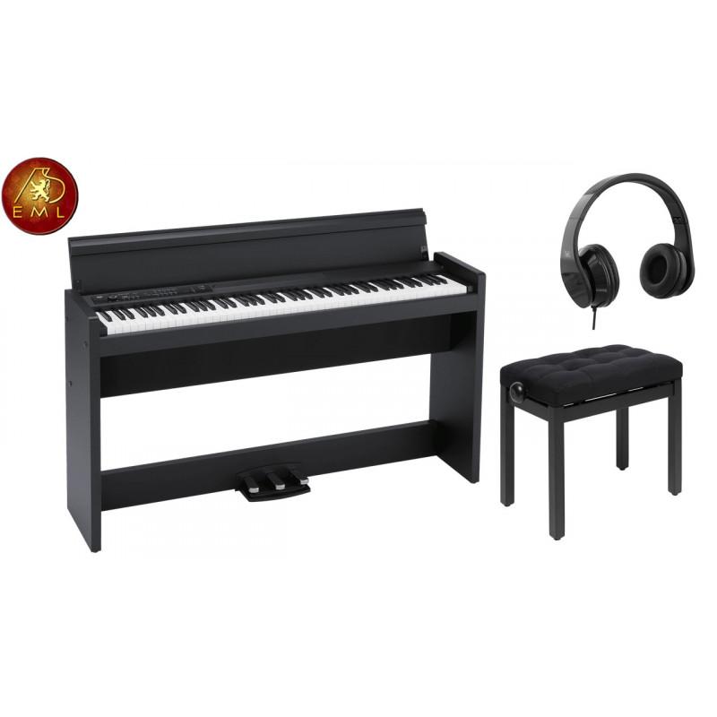 PACK PIANO KORG LP-380 BK