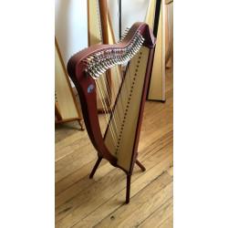 Harpe CAMAC, modèle BARDIC 27 cordes Acajou