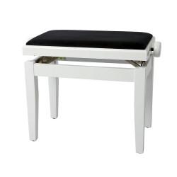 Banquette réglable, blanc brillant et assise noir, mécanique double performance