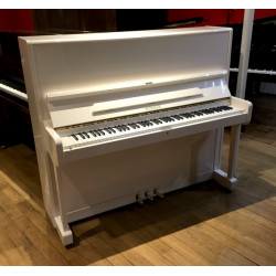 Piano droit SCHOLZE 126 By Petrof blanc  brillant 126cm