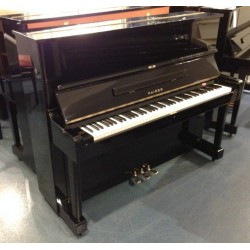piano droit Kaiser 121 made by Yamaha Noir Brillant