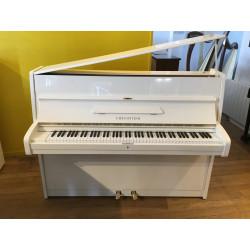 Piano droit C.BECHSTEIN N12 Blanc satiné112cm