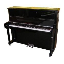 PIANO DROIT Wilh.Steinberg P-125 E Noir Brillant/Chrome