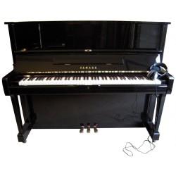 Piano Droit Yamaha UX1 Silent Korg Noir brillant 121cm