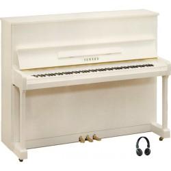 PIANO DROIT YAMAHA b3 SILENT 121cm Blanc Brillant
