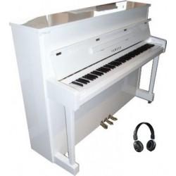 PIANO DROIT YAMAHA b2 SILENT 113cm Blanc Brillant