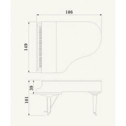 PIANO A QUEUE YAMAHA C3X 186cm Noir brillant