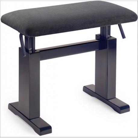 Banquette Piano Hydraulique PB780 Palissandre Mat / assise VELOURS noir