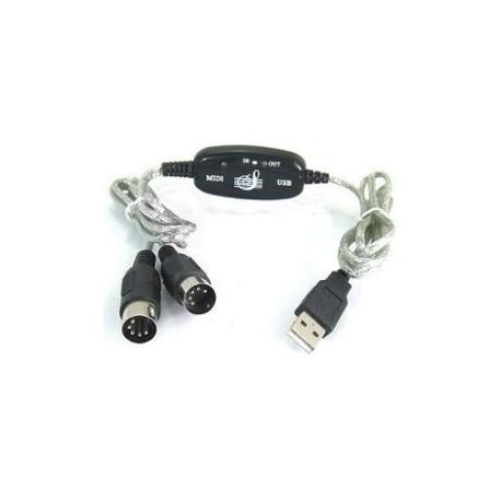 Interface MIDI - USB pour PC et Macintoch
