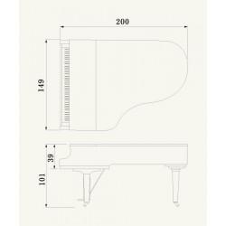 PIANO A QUEUE YAMAHA C5X 200 cm Noir brillant