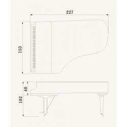 PIANO A QUEUE YAMAHA C7X 2m27 Noir Brillant