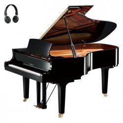 PIANO A QUEUE YAMAHA C6X SILENT 2m12 Noir Brillant