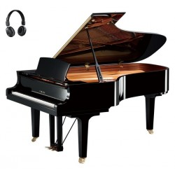 PIANO A QUEUE YAMAHA C7X SILENT 2m27 Noir Brillant