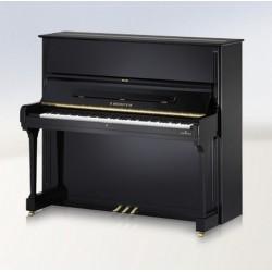 PIANO DROIT C.BECHSTEIN Concert 8 Noir Poli
