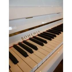 PIANO DROIT BOHEMIA Rhapsodie R 114 Blanc Poli