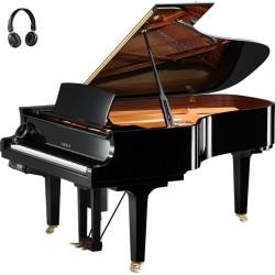 PIANO A QUEUE YAMAHA DISKLAVIER/SILENT DC6XE3 PRO 2m12 Noir Poli