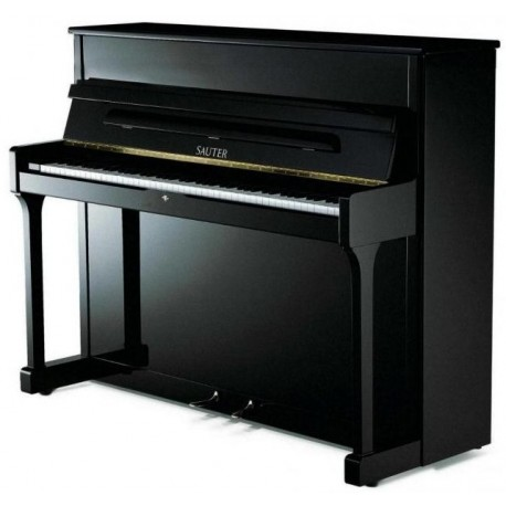 PIANO DROIT SAUTER 122 Carus Noir Poli OFFRE PROMOTIONNELLE