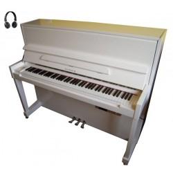 PIANO DROIT SAMICK JS-118 Harmonie Blanc/Chrome Silent