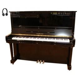 Piano Droit YAMAHA HQ300 SX SILENT/DISKLAVIER 131cm Noir brillant