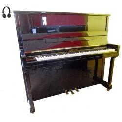 Piano Droit PLEYEL P131 Système Silencieux Noir poli