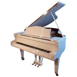 PIANO A QUEUE C.BECHSTEIN Studio 189 Blanc Brillant ***RARE***