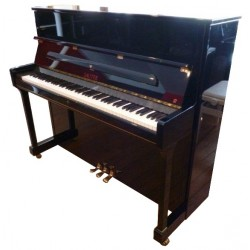 Piano Droit SAUTER 122 Domino Noir poli mécanique Renner R²