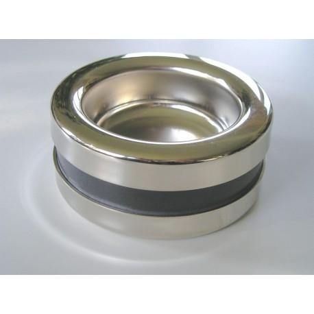 Coupelle PIATTINO Castor 67,5 mm, finition chrome