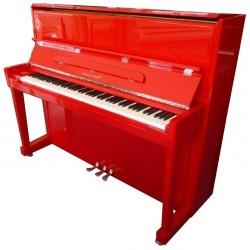 PIANO DROIT Hermann Jacobi 118 Hermann Rouge brillant / chrome