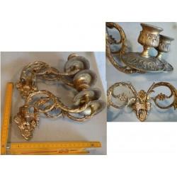 lot de 2*2 chandeliers en bronze.