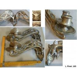 lot de 2*2 chandeliers en bronze. L. Pinet. Modèle déposé 165